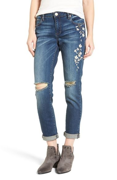 STS Blue Talor Embroidered Tomboy Jeans (West San Clemen) available at #Nordstrom
