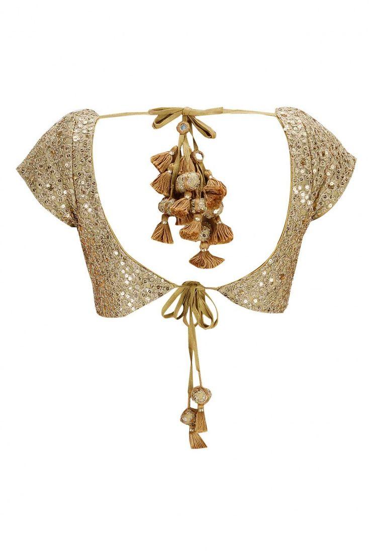 Sabyasachi Blouse design and the tassels