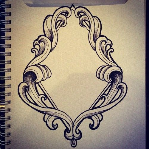 Picture Frame Tattoo Designs Diamond Design picture