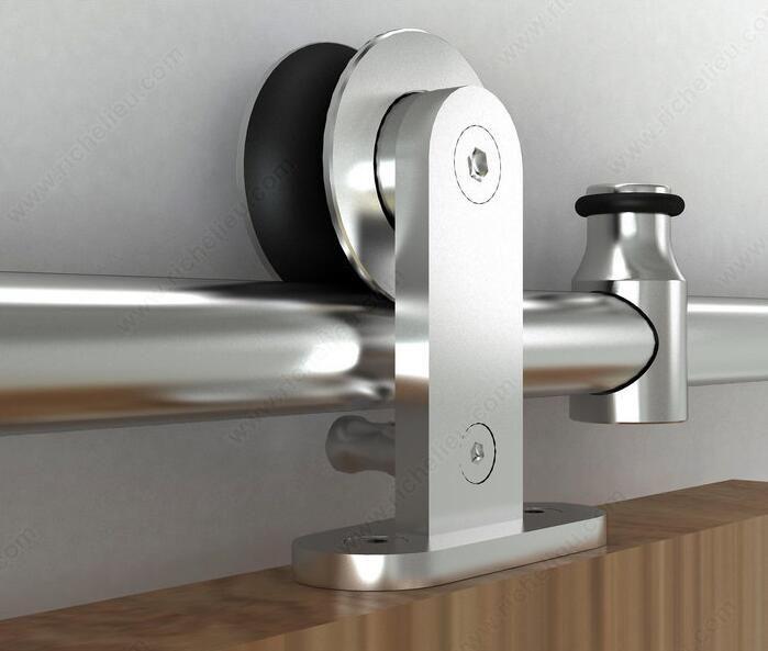 150cm-390cmTop гора раздвижные дверь сарая трек комплект из нержавеющей стали сарай двери шкафа вешалка оборудования