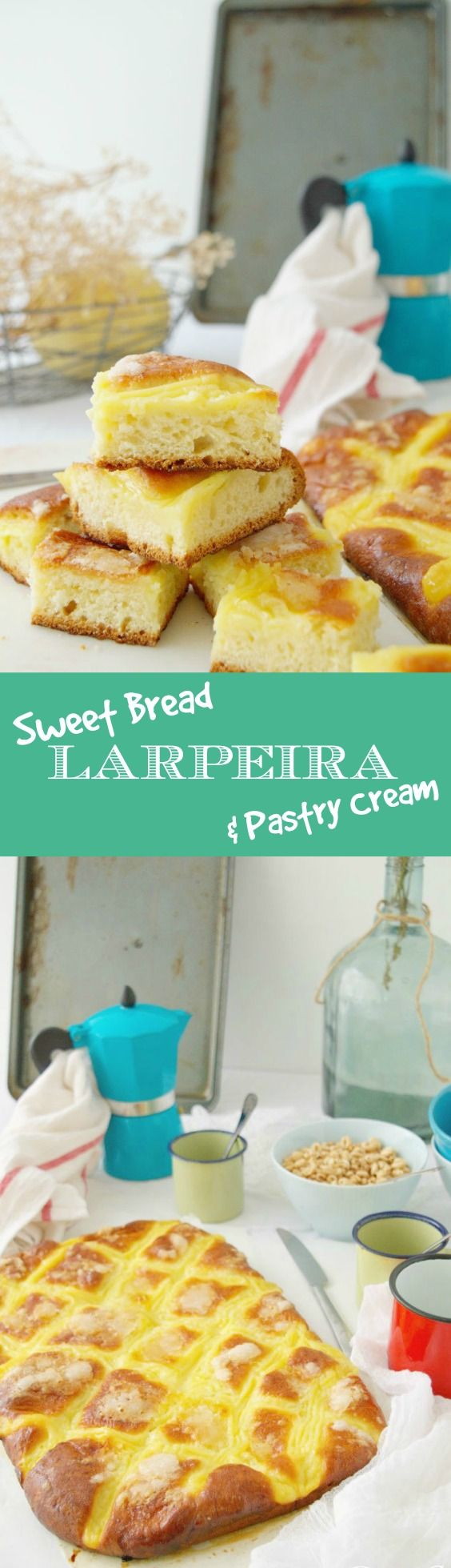 Sweet bread & Pastry Cream - Larpeira - Typical from Galicia (Spain) - English recipe included. I couldn't stop eating it.  Larpeira o bolla dulce gallega, no hay un San Juan sin ella.
