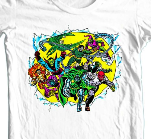 MARVEL Comic Villians T shirt retro Green Goblin Dr Octopus cotton tee