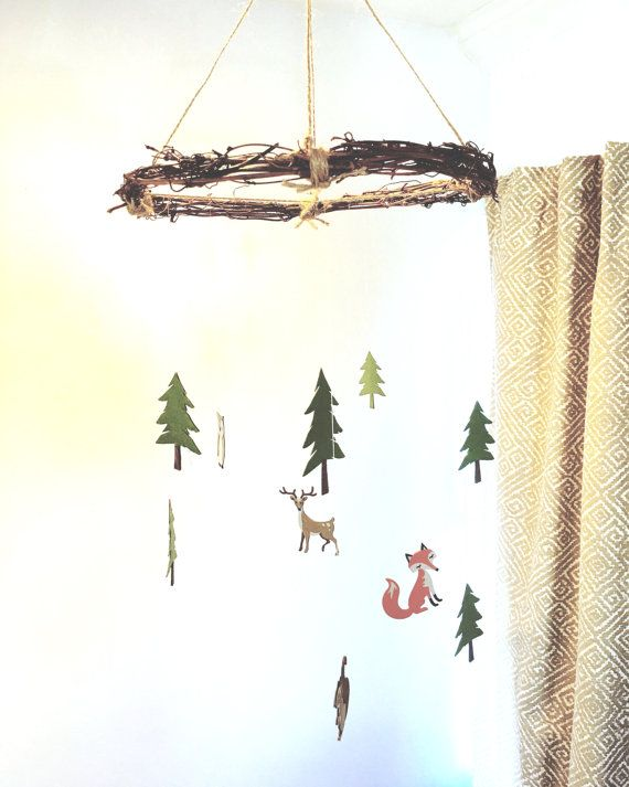 Woodland Mobile woodland animal mobile forest by GreatCrafternoon
