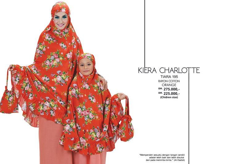 Kiera Charlotte - Tiara 195 Rayon Cotton  Orange AVAILABLE only IDR 275.000,- (Adult Size) & IDR 225.000 (Children Size)