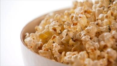 Beer Snacks! Popcorn with Herbs de Provence and Asiago Cheese