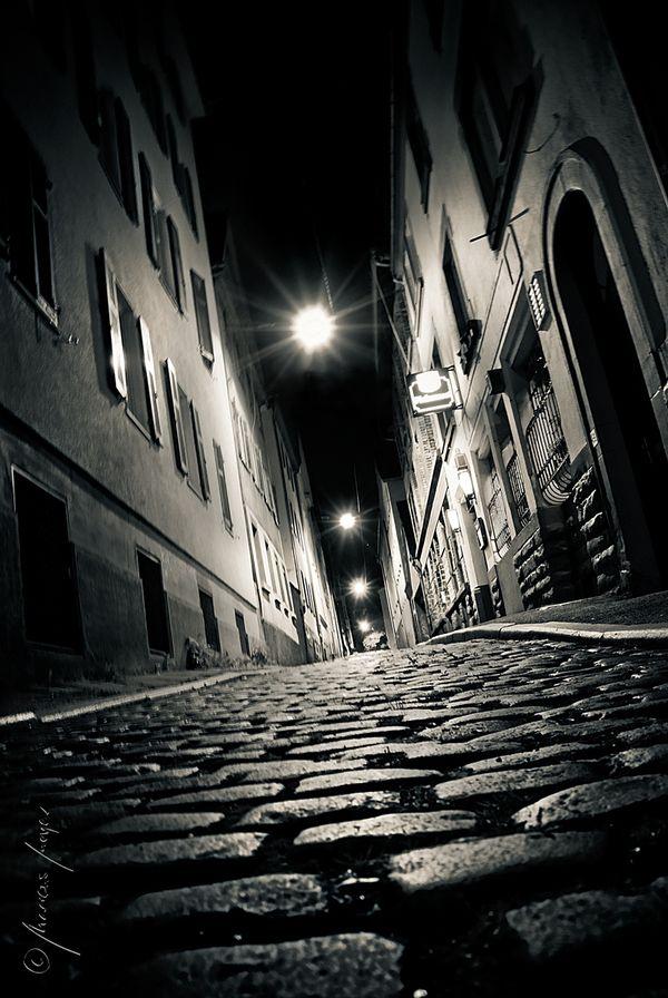 """the red-light district of stuttgart, 2:11 am """"Cité Noir"""" by Marcus Meyer, via Behance"""