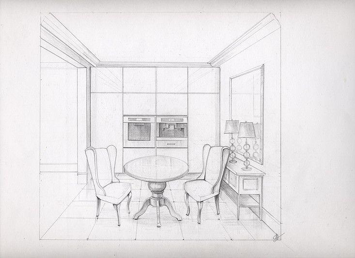 Интерьерные эскизы, эскиз интерьера. Architectural Rendering Interior Rendering Design.