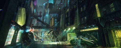 cyberpunk 2077 street