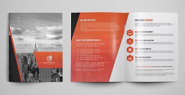 2 Folded Brochure Template In 2020 Brochure Template Print