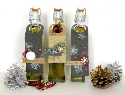 flavoured olive oil  - Christmas present idea, incl. tutorial