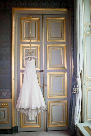 Beautiful paneled French doors!