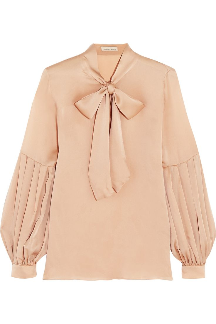 MERCHANT ARCHIVE Pussy-bow silk-satin blouse $900.00 https://www.net-a-porter.com/product/682617