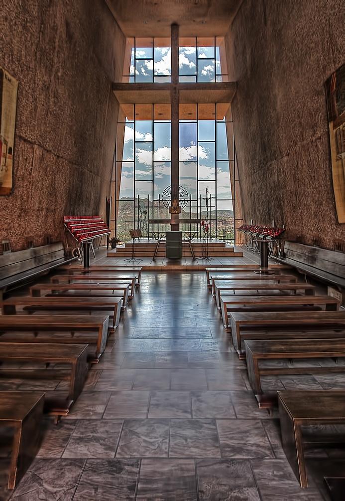 Interior Of The Chapel Of The Holy Cross Sedona Az