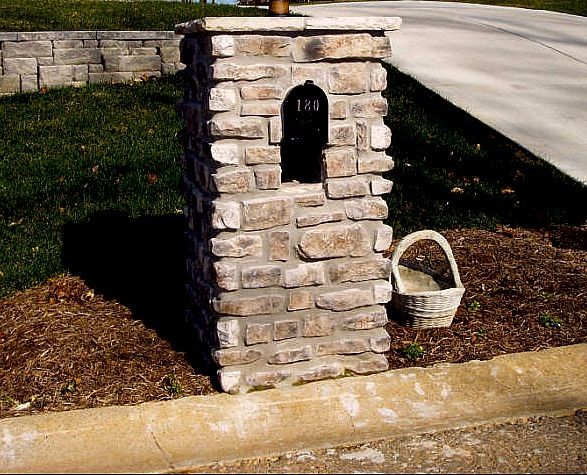 How to Build a Decorative Stone Mailbox