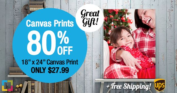 Looking for unique personalized gift ideas? Simple Canvas Prints is offering their 18×24 canvas print for just $27.99 shipped, plus 80% off all other sizes right now!