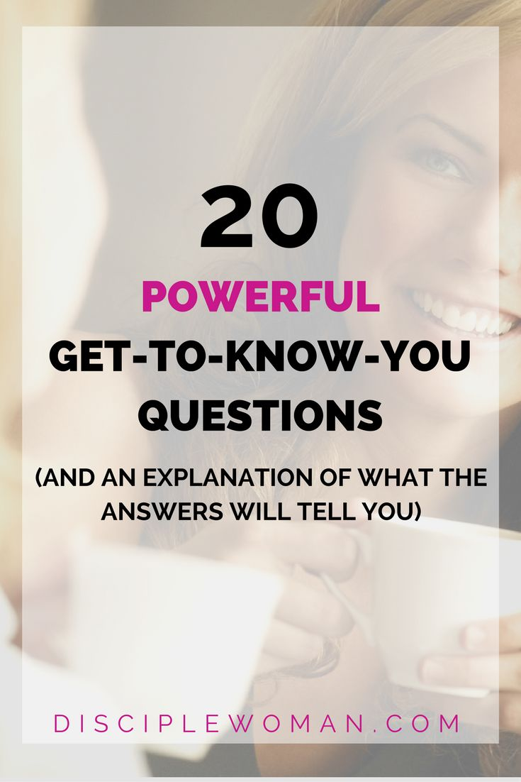 These questions are awesome! not the same ol boring questions! Lots of insight!   powerful get to know you questions  Disciplewoman.com