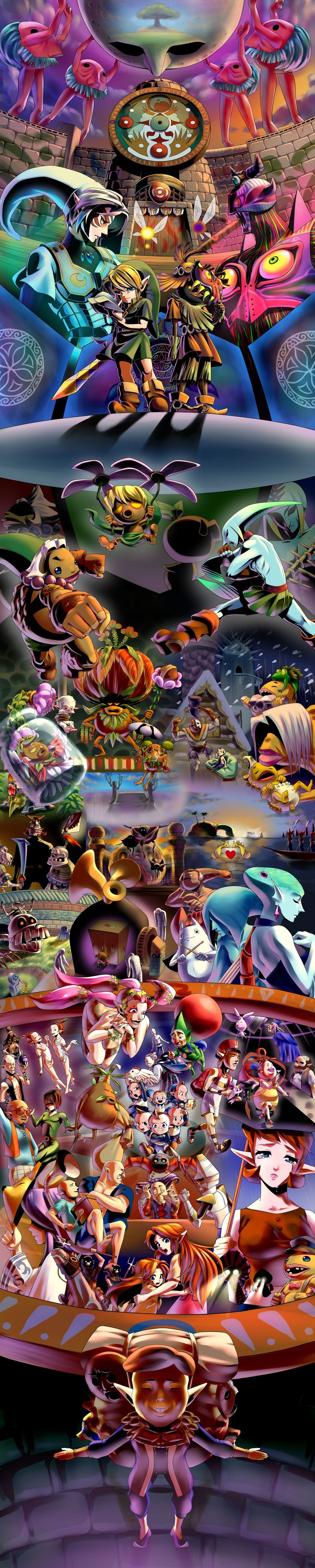 The Legend of Zelda: Majora's Mask / Young Link, Tatl, Skull Kid, and etc.