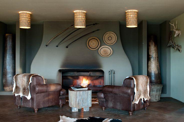 Kwena Lodge Lounge Fireplace