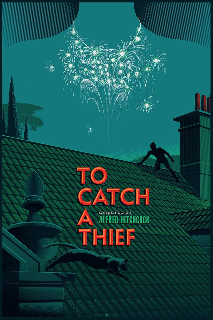 To Catch a Thief Movie Poster by Laurent Durieux                              …