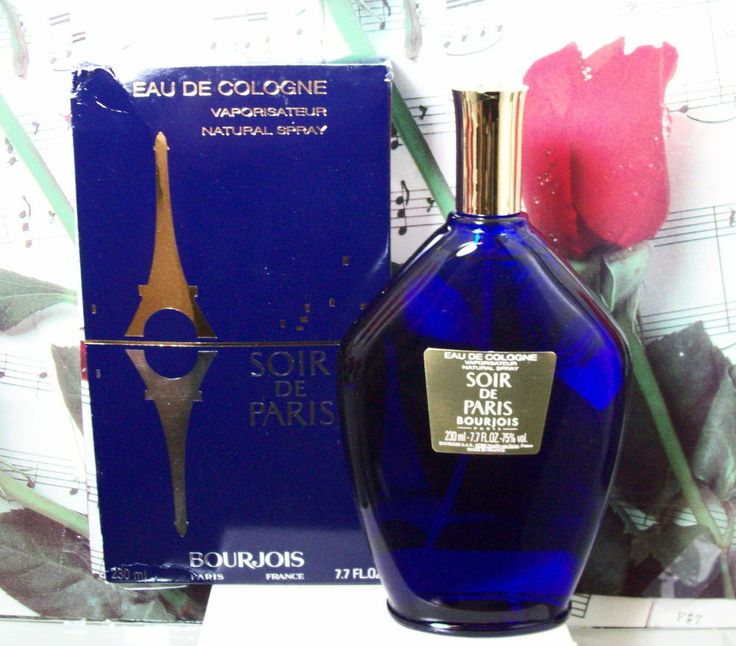 Soir De Paris / Evening In Paris EDC Spray 7.7 Oz. By Bourjois MY FAVORITE PERFUME, CREATED ABOUT 1921 THIS IS THE COLOGNE, BOURJOIS OWNS CHANEL CREATED IN 1863 GO TO BOURJOIS.COM CLICK ON UK, ENGLISH READ HX AND SEE ALL THE GREAT PRODUCTS I ALSO LIKE CHANEL#5 BOURJOIS NOT SOLD IN USA I BUY ON EBAY UK, AND ANOTHER SITE, ILL ADD LATER