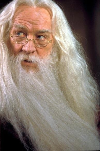Richard Harris as Dumbledore. As much as I love Michael, Richard will always be my Dumbledore. He was so perfect.