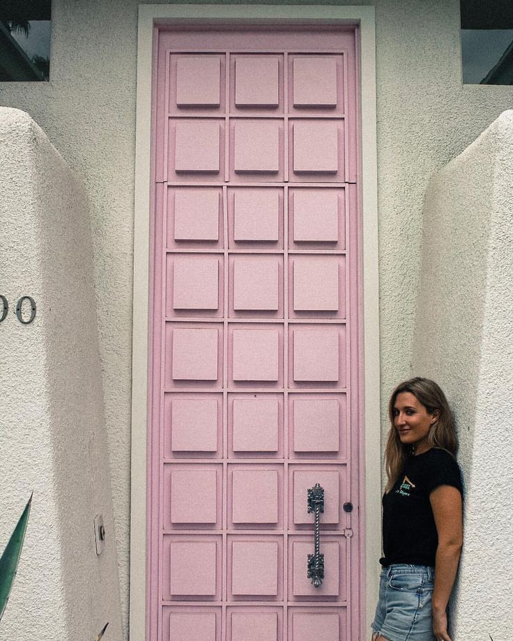 "LANI (@paradiselostnfound) on Instagram: ""Is it even a trip to Palm Springs if you don't pay a visit to @thatpinkdoor? 💘"""