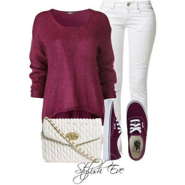 Edits jeans burgundy knit sweater burgundy vans