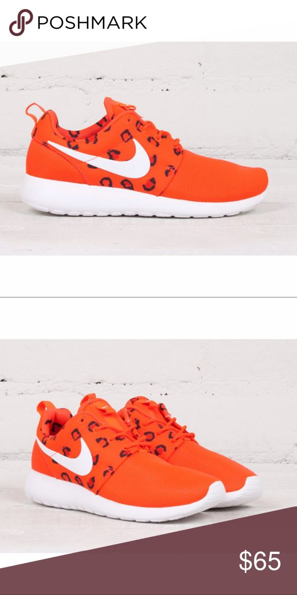 🔥 Nike Leopard Roshe Runs 🔥 🔥 Nike Roshe Runs 🔥 Leopard Print Pack 🐯  True color is Orange/Bright Coral Excellent Condition ✨ Smoke Free Home 🚭 15% off of 4 or more bundled items! Nike Shoes Sneakers