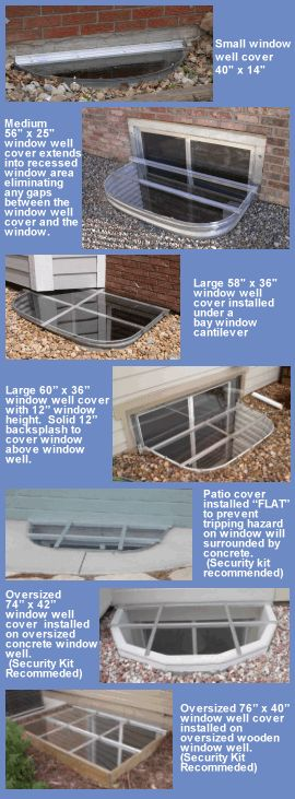 Window Well Covers, Safety Covers, Security Covers, Area Well Covers, Basement…