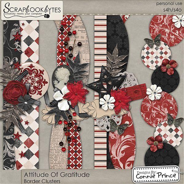 Attitude Of Gratitude - Border Clusters :: Page Edges :: Embellishments :: SCRAPBOOK-BYTES
