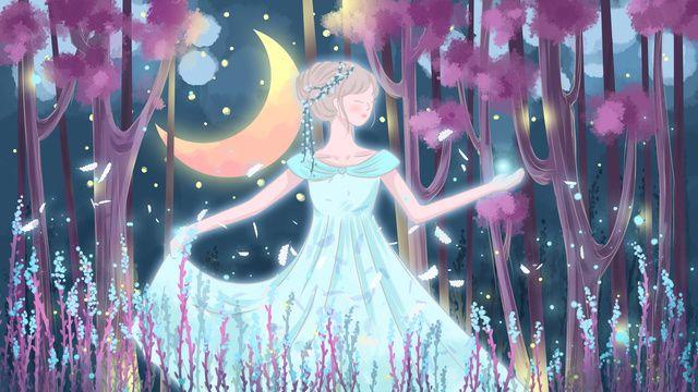 شفاء المصور الغابات الاميرة أميرة الغابات غابة أميرة صورة توضيحية على Pngtree غير محفوظة الحقوق Illustration Anime Art