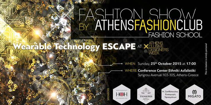 Wearable Technology Fashion Show by AthensFashionClub and Maria Vytinidou