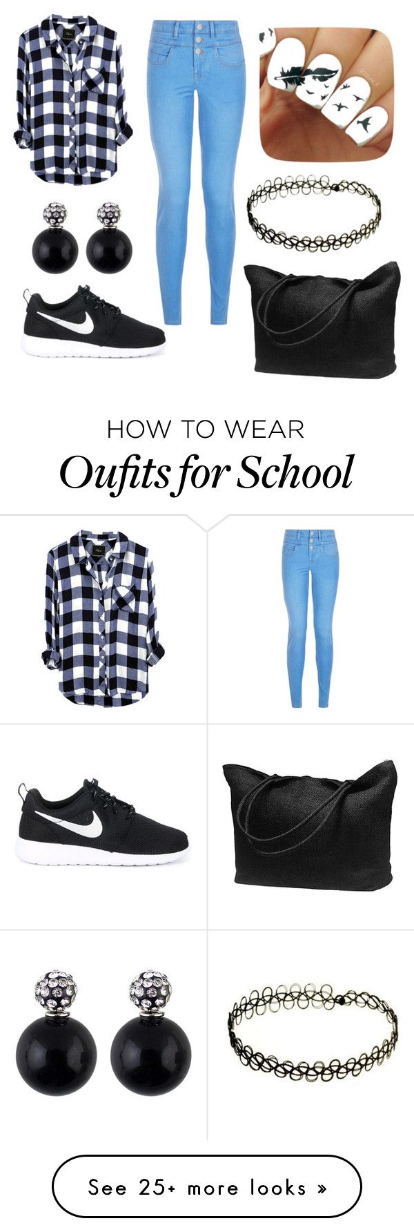 """School outfit."" by dreamer2801 on Polyvore featuring New Look and NIKE"