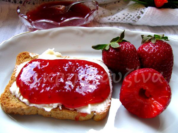 μικρή κουζίνα: Μαρμελάδα φράουλα