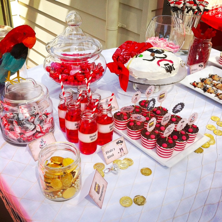 pirate party lolly buffet
