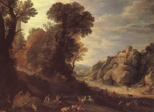 Фламандский художник Paul Bril (1554-1626)..Mountain Landscape