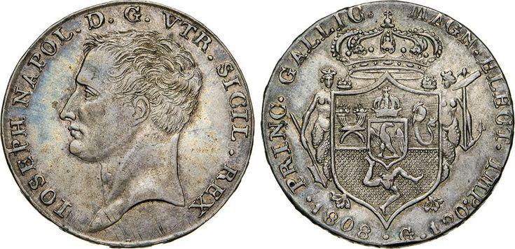 NumisBids: Numismatica Varesi s.a.s. Auction 65, Lot 497 : NAPOLI - GIUSEPPE NAPOLEONE (1806-1808) 120 Grana o Piastra 1808. ...