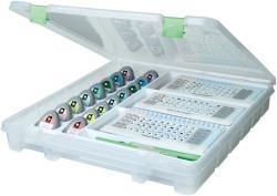 @Overstock - Artbin-Super Satchel Cartridge & Tool Storage. Organize your cartridges and tools in this storage case. Super Satchel includes molded trays: one to securely store up to 16 cartridges at an easy viewing angle and the other to hold related booklets.http://www.overstock.com/Crafts-Sewing/ArtBin-Electronic-Cartridge-Storage-Translucent-W-Green-Latch/6978735/product.html?CID=214117 $22.99
