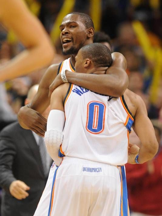 Russell Westbrook and Kevin Durant brothers 4 Life (: