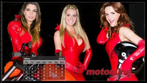 Calendário Motonline – Maio – Bruna Amaral, Rosa Granado e Dandara Façanha | Garotas | Motos novas, usadas e seminovas para comprar e vender – Motonline
