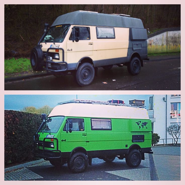 Before and after VW LT 40 4x4  www.cactusontheroad.com