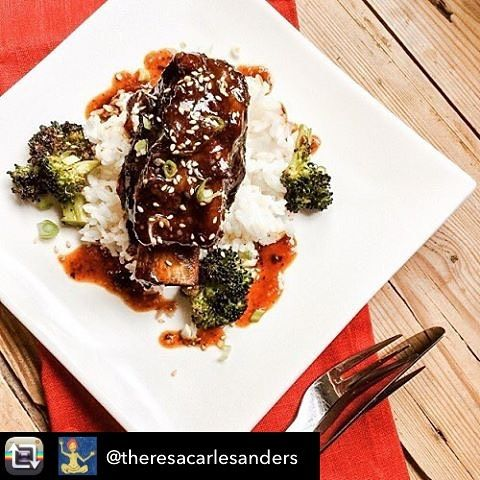 Repost from @theresacarlesanders Slow Cooker Korean Short Ribs  Reminiscent of traditional Korean Galbi, these tender, fall-apart beef short ribs in a sweet soy-based sauce are a low-labour treat worthy of your next dinner party, whether it be a romantic meal for two, or large gathering of friends.  Serves 4 to 6  Ingredients:  ½ cup soy sauce ½ cup brown sugar 1 tablespoon rice vinegar 1 tablespoon minced garlic 1 tablespoon minced ginger ½ teaspoon gochugaru (korean chili flakes) or…
