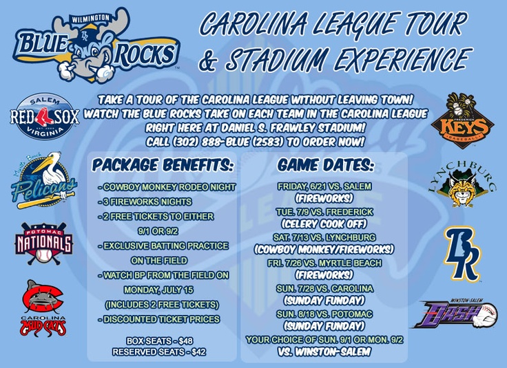 .Presenting the Carolina League Tour and Stadium Experience!  Fans, this might be the BEST DEAL we've ever offered!    http://www.milb.com/documents/2/8/4/47508284/Tour_Flyer_copy_wi3kzrih.pdf