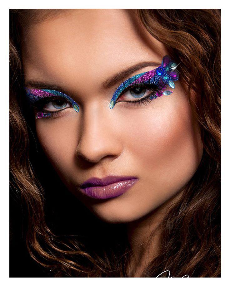 Xotic Eyes Orient blau lila #BeautyMakeup #EyeMakeUp #FakeLashes #Makeup
