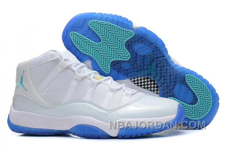 http://www.nbajordan.com/air-jordan-11-white-blue-free-shipping.html AIR JORDAN 11 WHITE BLUE DISCOUNT Only $70.00 , Free Shipping!