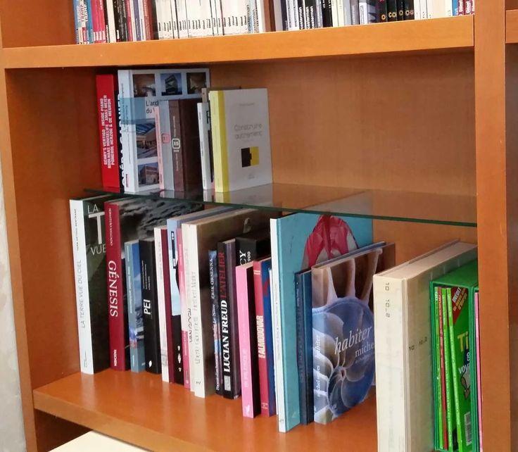 Etagères en verre trempé sur mesure pour vos bibliothèques