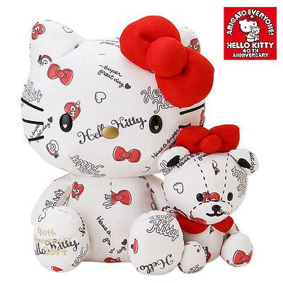 NEW Limited Hello Kitty 40th Anniversary HUG Plush from Japan Gift