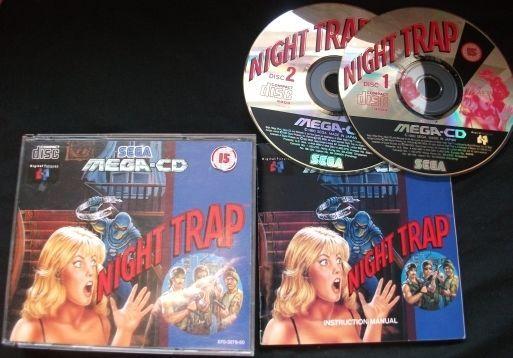 NIGHT TRAP - SEGA Mega CD - PAL -  Boxed with Instructions - Rated 15