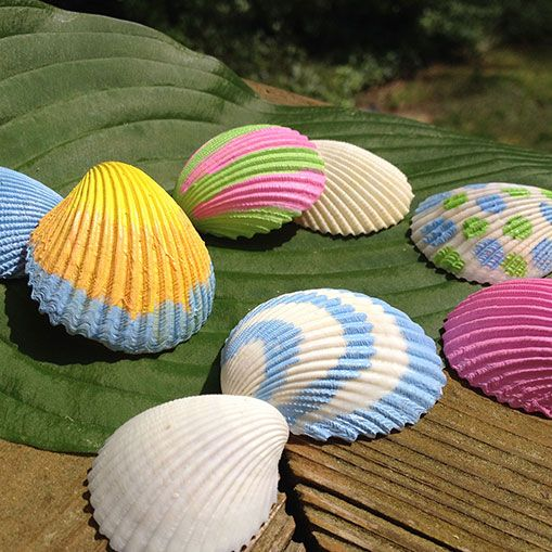 Seashell Painting. We paint seashells by the seashore... say that six times fast! #OshKoshSummer