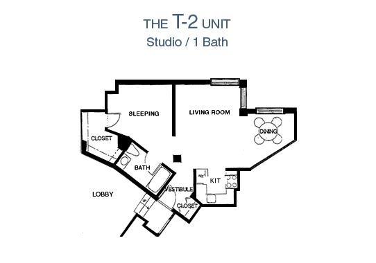 65 Prospect Street Terrace Studio Apartment Floor Plan - Studio/1 Bath